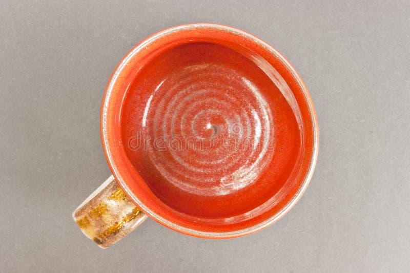 Clay Terracotta Mug Top View Royalty Free Stock Image