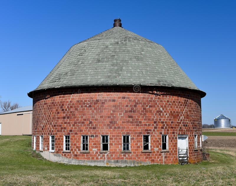 Clay Tile Round Barn fotografia stock