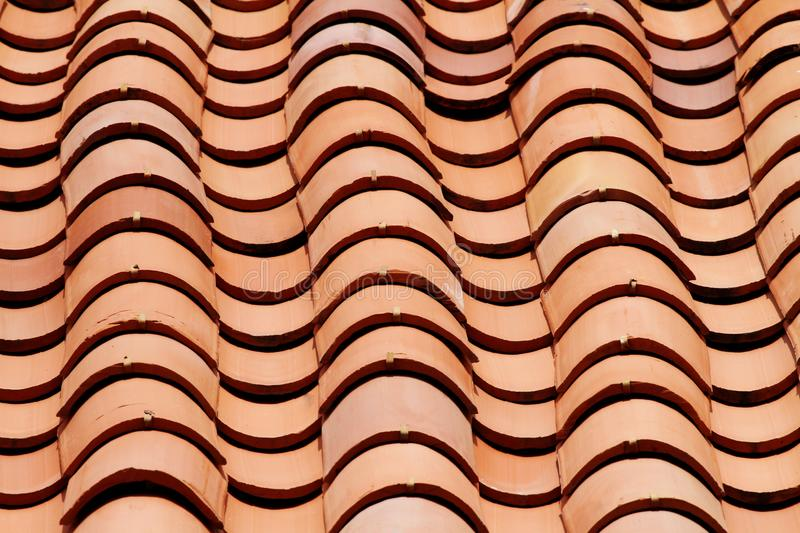 Clay Tiles. Close up shot of a roof with clay tiles royalty free stock photography