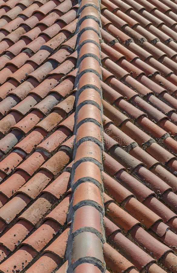 Clay tiles pattern stock images