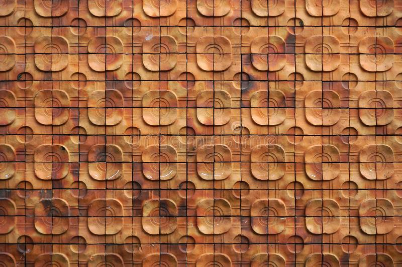 Clay tiles pattern and texture. Background royalty free stock photo