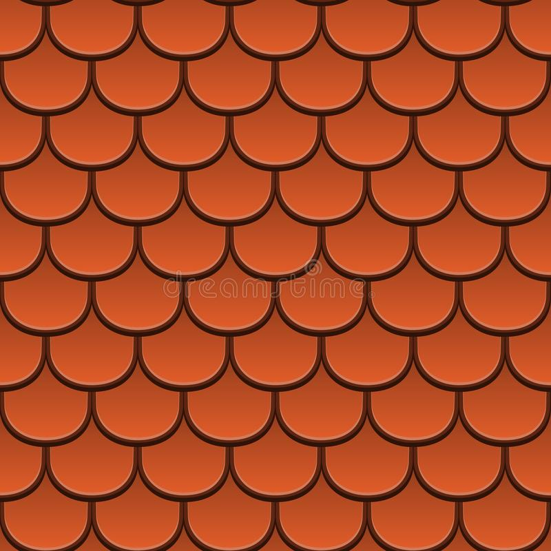Clay tiles texture. Vector Seamless Pattern stock images