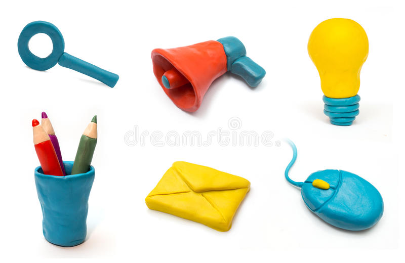 Download Clay web icons stock illustration. Image of pencil, idea - 27685920