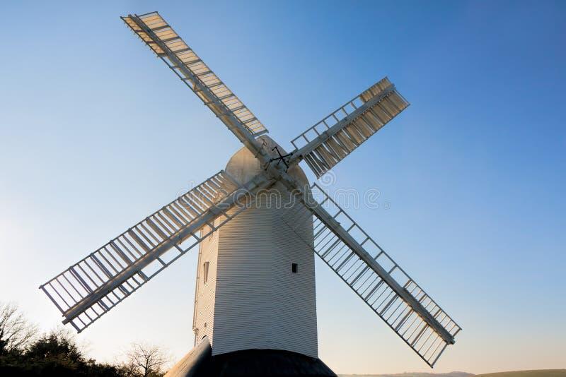 CLAYTON ÖSTLIG SUSSEX/UK - JANUARI 3: Jill Windmill på en winter royaltyfri foto
