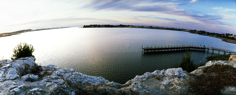 Clayton Bay panoramico fotografia stock
