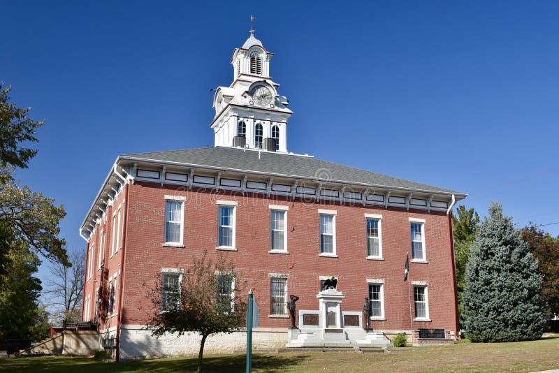 Clayton County Courthouse fotografia stock libera da diritti