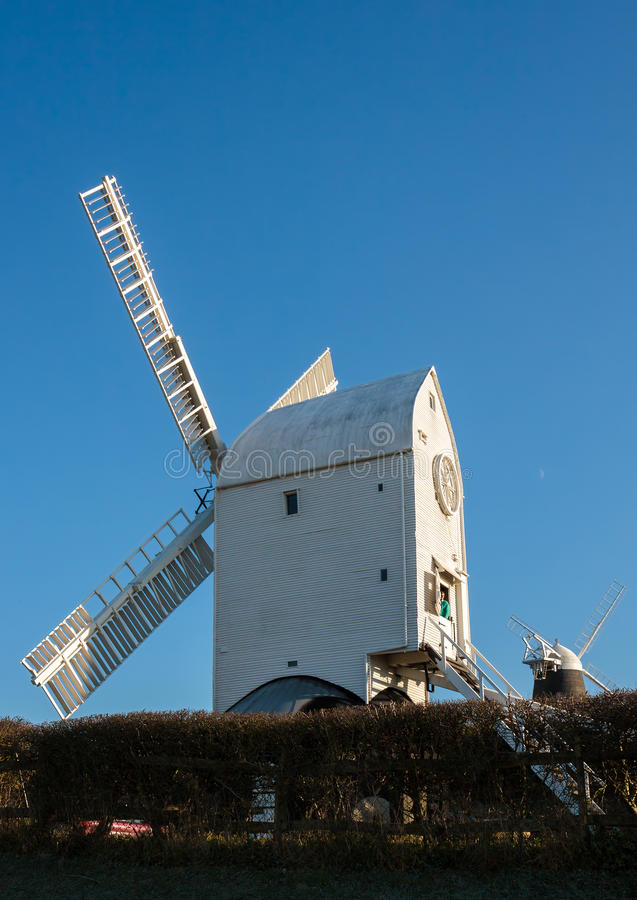Free CLAYTON, EAST SUSSEX/UK - JANUARY 3 : Jill Windmill On A Winter` Royalty Free Stock Photo - 82504795