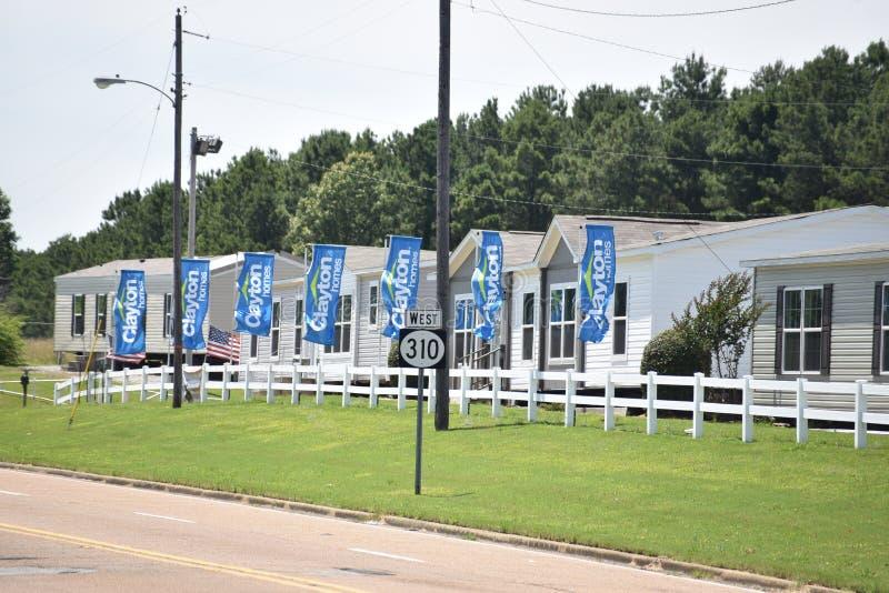 Clayton Homes Manufactured Homebuilders fotografia stock libera da diritti