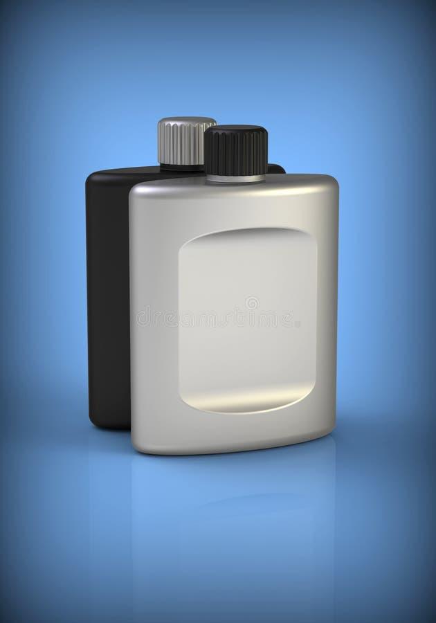 Clean aftershave bottles stock illustration