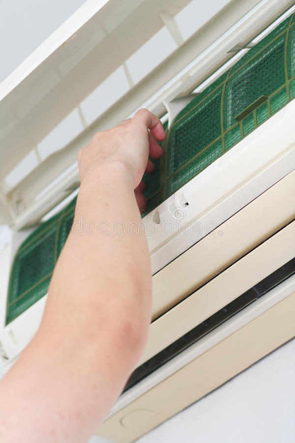 Download Clean Air-conditioner Filter Stock Photo - Image: 25296716