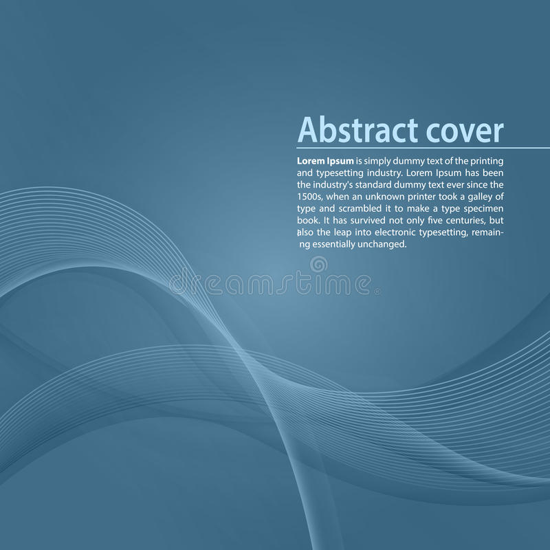 Clean background with blue gradient and blend. Business style or technology clean design. Modern vector backdrop with blue gradient and wave. Template cover or stock illustration