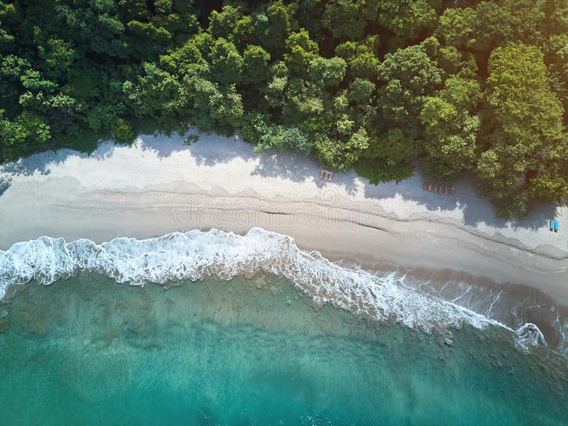 Clean beach in NIcaragua royalty free stock images