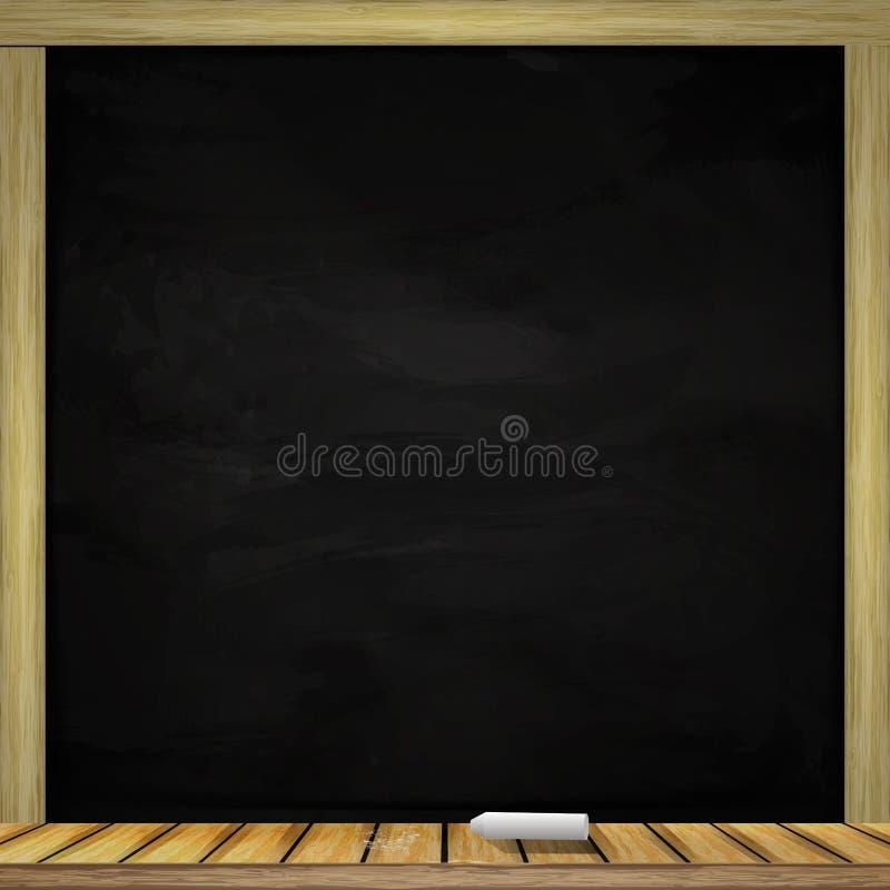 Clean black сhalkboards background. Vector illustration royalty free illustration