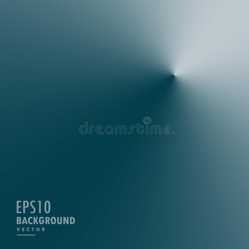 Clean blue background in conical gradient style. Vector stock illustration