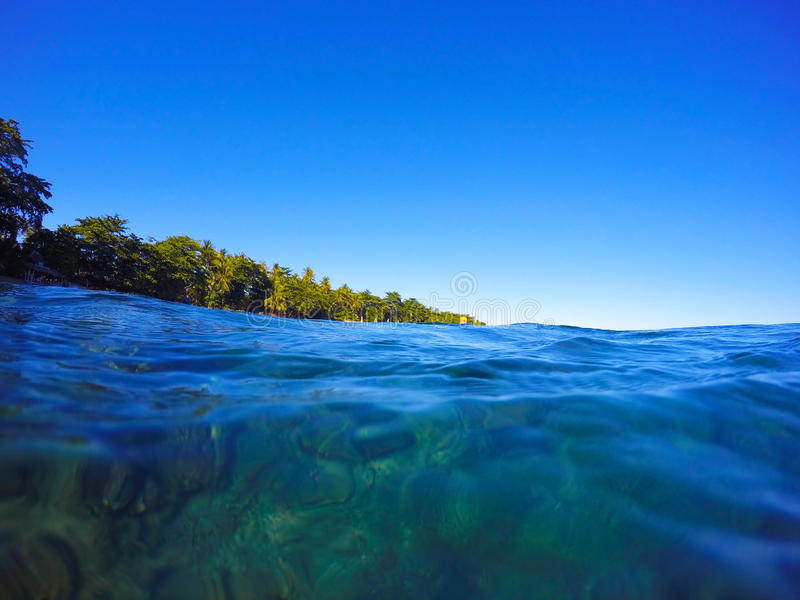 Download Clean Blue Sea Water - Look Through Under Water Stock Photo - Image of coral, nature: 68483980