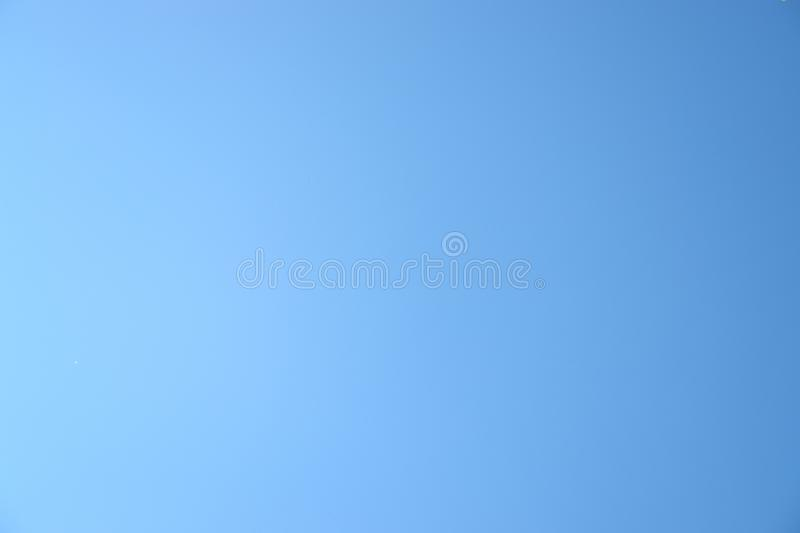 Clean blue sky royalty free stock photo
