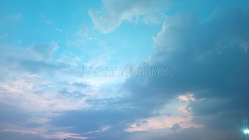 The clean and Blue SKY stock image