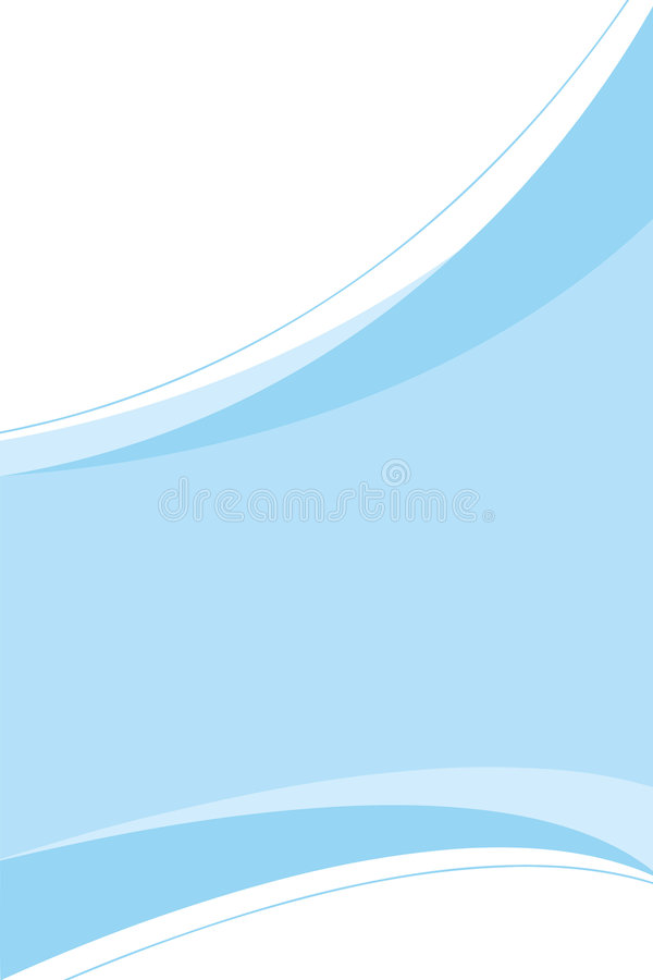 Clean Blue Template. A clean blue corporate design template you can use in any type of piece from ads to page layouts vector illustration