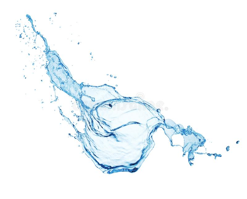 Water splash isolated royalty free stock images