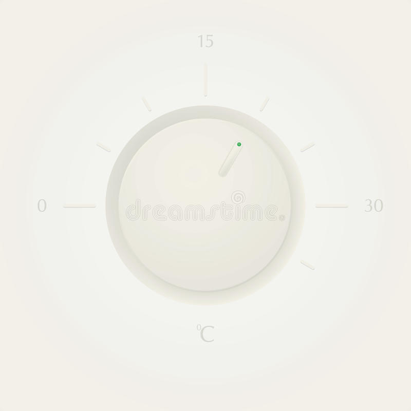 Clean Boiler Thermometer With Simple Scale. Royalty Free Stock Photography