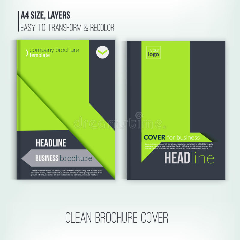 Download Clean Brochure Design, Annual Report, Cover Template, Magazine,  Flyer And Book  Annual Report Cover Template