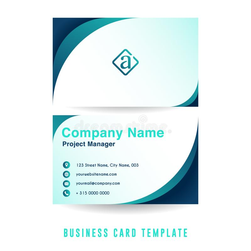 Clean business card template design with minimalist color combination. Company business card template. Vector design element vector illustration