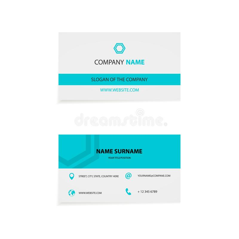 Clean business card royalty free illustration