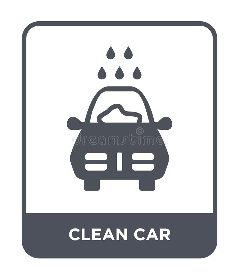 Clean car icon in trendy design style. clean car icon isolated on white background. clean car vector icon simple and modern flat. Symbol for web site, mobile vector illustration