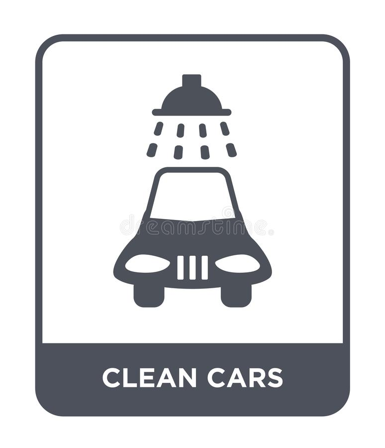 Clean cars icon in trendy design style. clean cars icon isolated on white background. clean cars vector icon simple and modern. Flat symbol for web site, mobile vector illustration