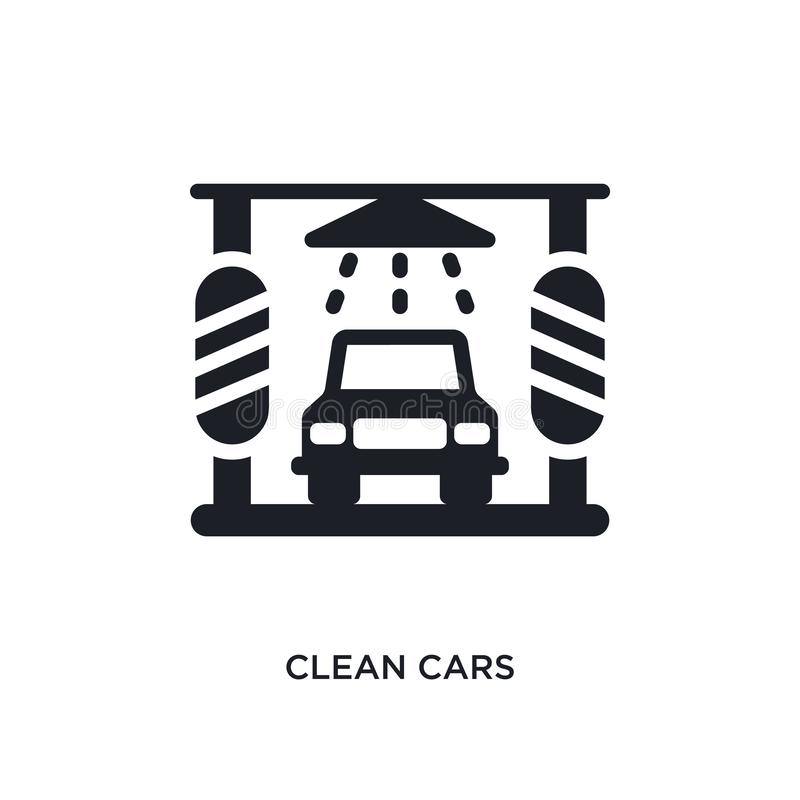 Clean cars isolated icon. simple element illustration from cleaning concept icons. clean cars editable logo sign symbol design on. White background. can be use stock illustration