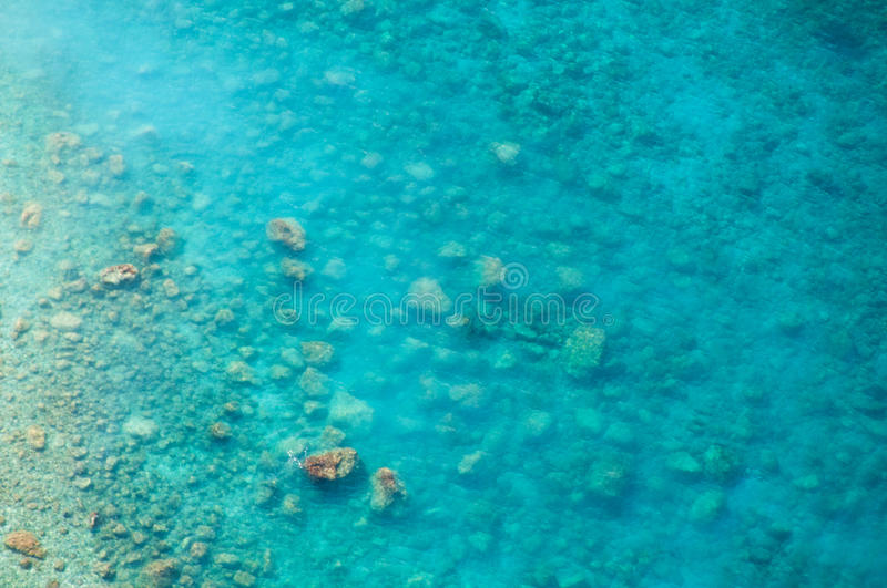 Clean Clear Sea, Top View Of The Water And Seabed Stock