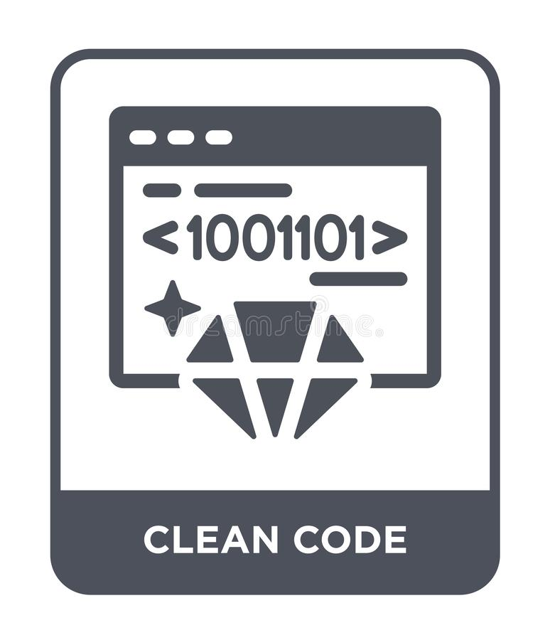 Clean code icon in trendy design style. clean code icon isolated on white background. clean code vector icon simple and modern. Flat symbol for web site, mobile vector illustration