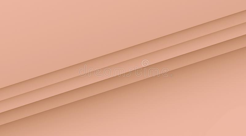 Clean crisp diagonal lines geometric background illustration with copy space in color shades of tea rose pink. Computer generated geometric clean, crisp, and vector illustration