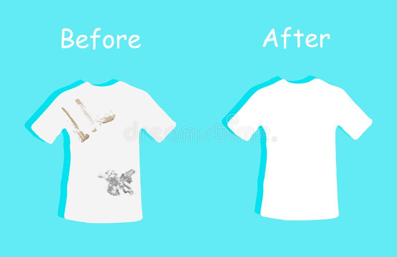 Clean and dirty clothes for your design.before and after  illustration vector illustration