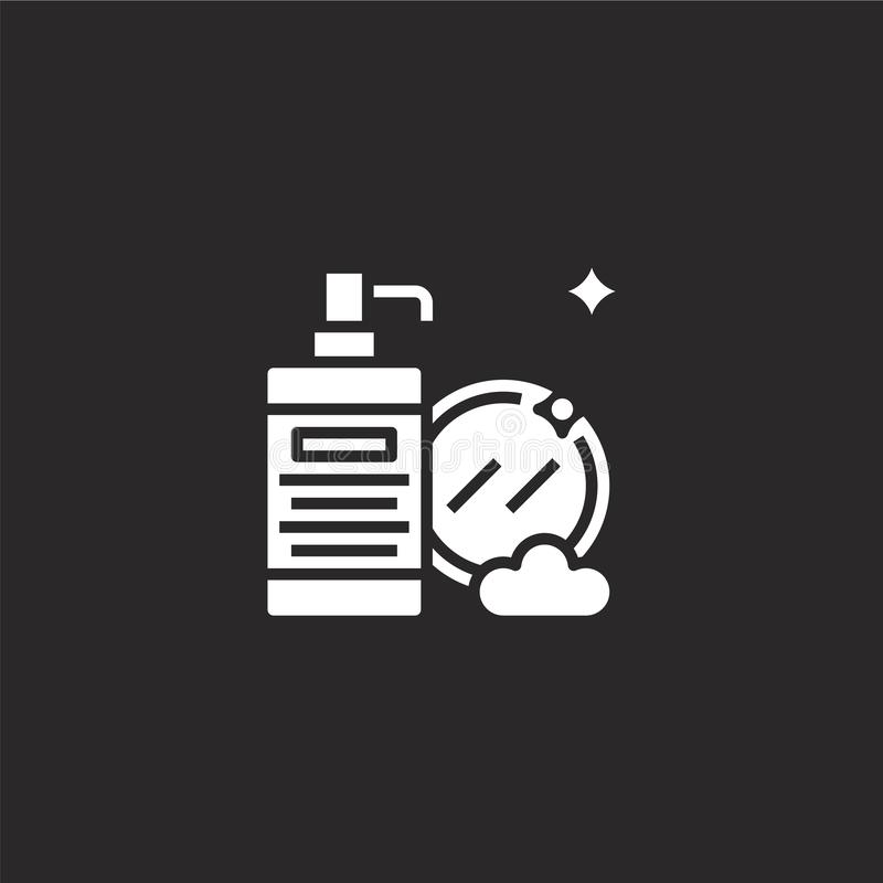 clean dishes icon. Filled clean dishes icon for website design and mobile, app development. clean dishes icon from filled hygiene royalty free illustration
