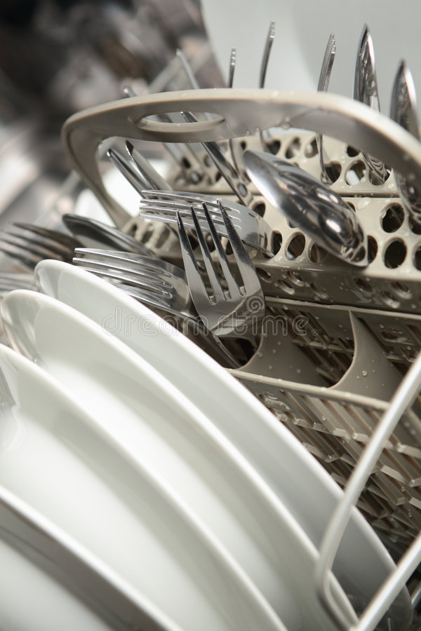 Clean Dishes And Utensils Stock Image