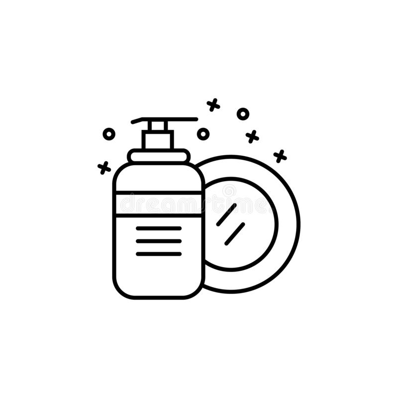Clean dishes wash liquid soap icon. Element of hygiene icon vector illustration