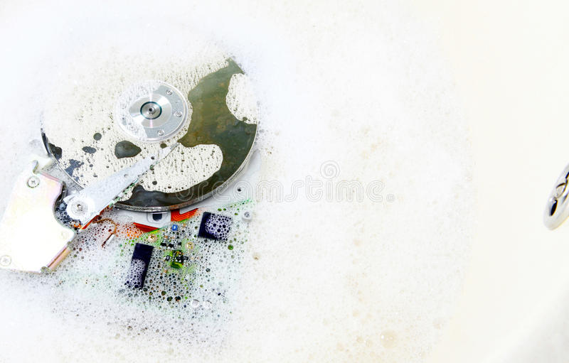 Clean disk royalty free stock image