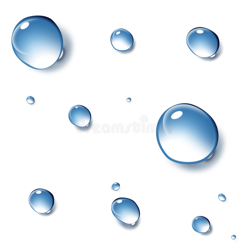 Clean drops of water royalty free stock photos