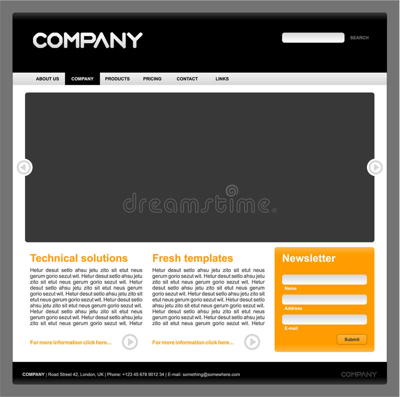 Download Clean Editable  Web Site Design Template - F Stock Vector - Image: 16033016