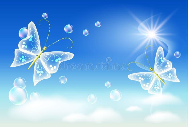 clean ekologisymbol för luft stock illustrationer