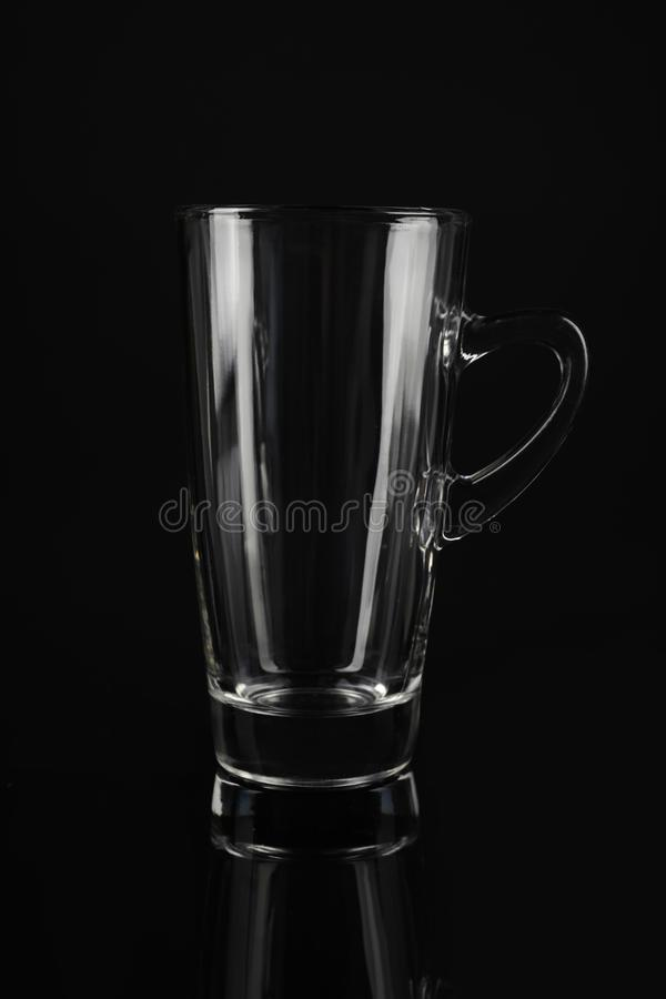 Clean empty latte glass royalty free stock photo