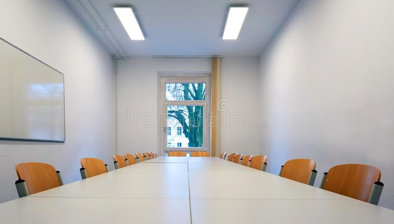 Clean empty meeting room royalty free stock photo