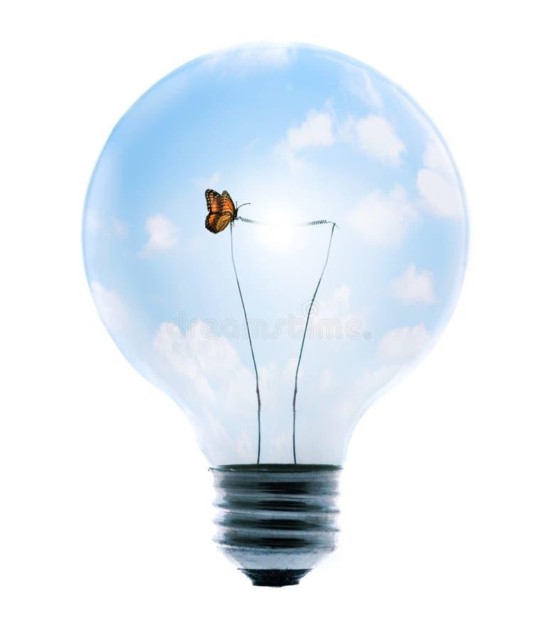 Clean Energy Bulb stock photo