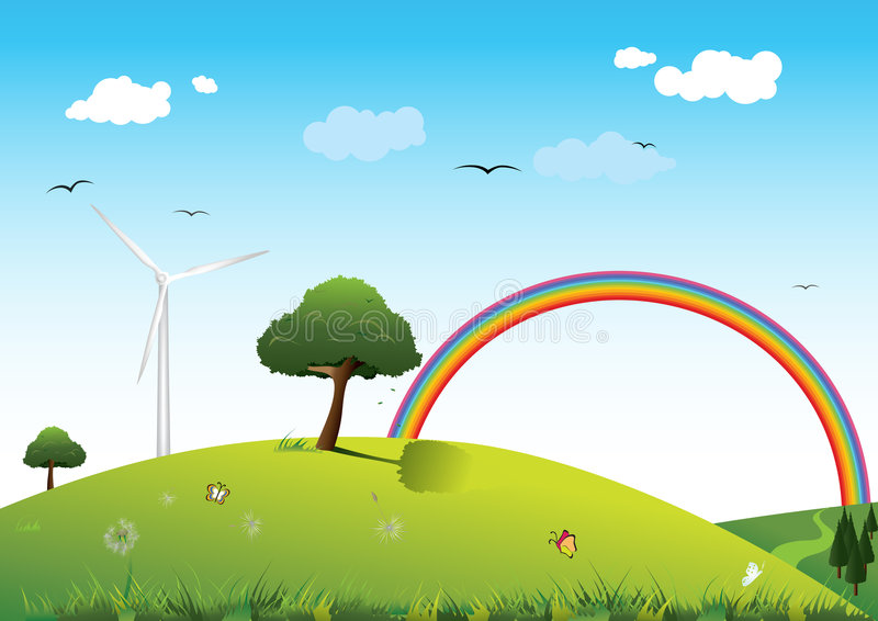 Clean energy concept royalty free illustration