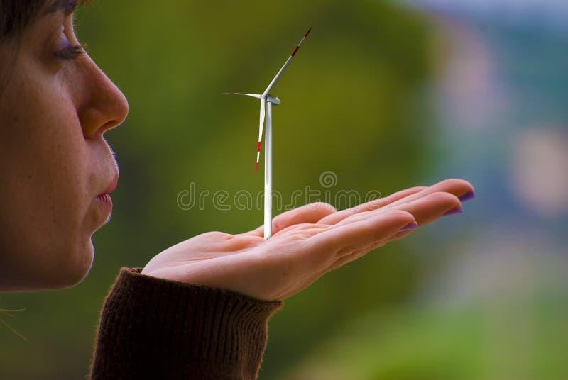 Clean energy concept stock photo