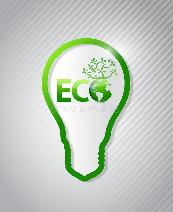 Clean Energy Concept. eco illustration royalty free illustration