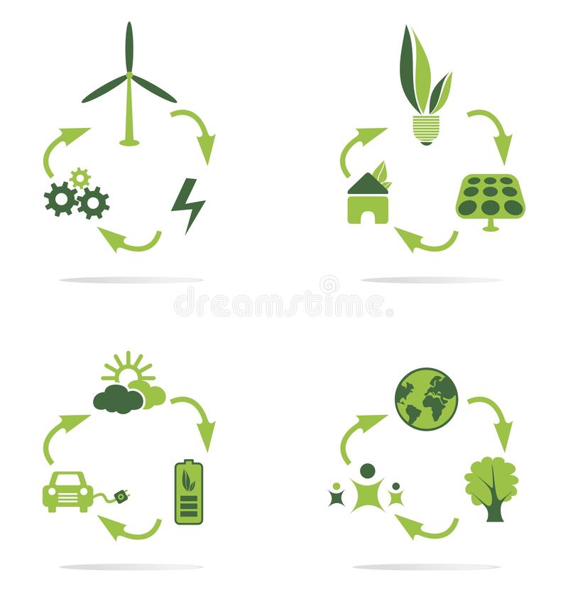 Download Green energy icon stock vector. Illustration of environmental - 33863192