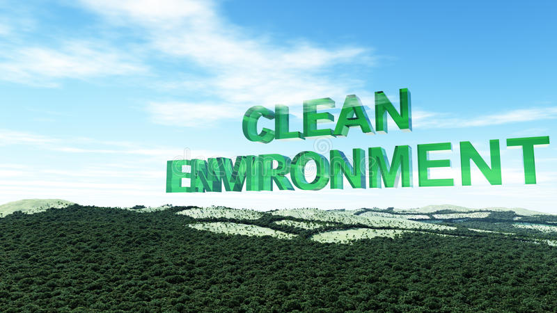 clean environment pictures  Clean Environment Concept stock illustration. Illustration of deep ...