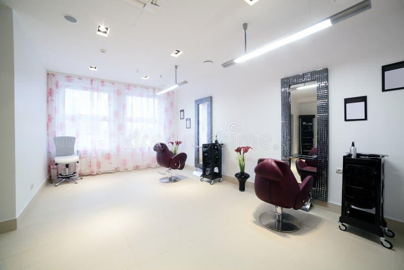 Clean european hair salon royalty free stock photo